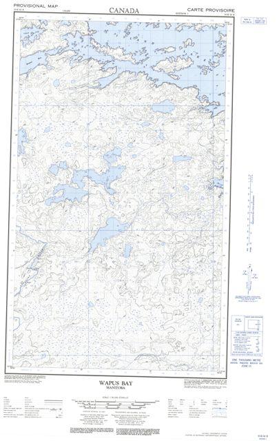 Wapus Bay Topographic Paper Map 053E10E at 1:50,000 scale