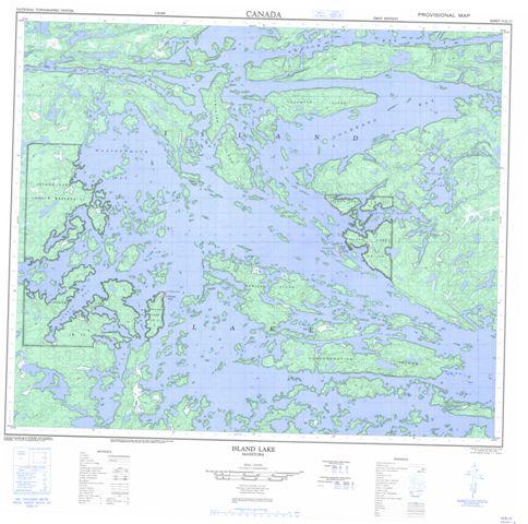 Island Lake Topographic Paper Map 053E15 at 1:50,000 scale