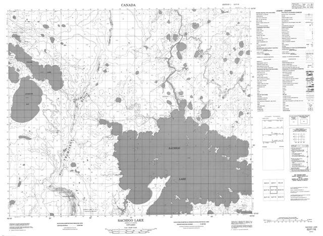 Sachigo Lake Topographic Paper Map 053F16 at 1:50,000 scale