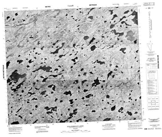 Pukatawagan Lakes Topographic Paper Map 053J01 at 1:50,000 scale