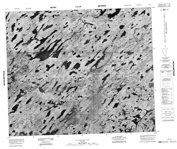 No Title Topographic Paper Map 053J02 at 1:50,000 scale