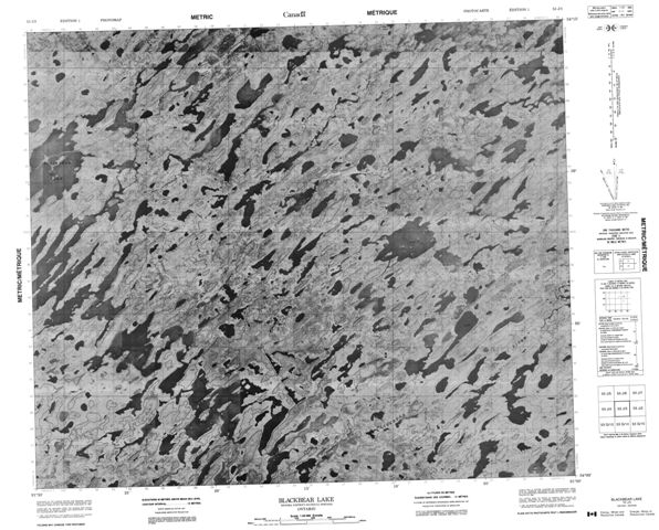 Blackbear Lake Topographic Paper Map 053J03 at 1:50,000 scale