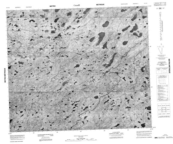No Title Topographic Paper Map 053J10 at 1:50,000 scale