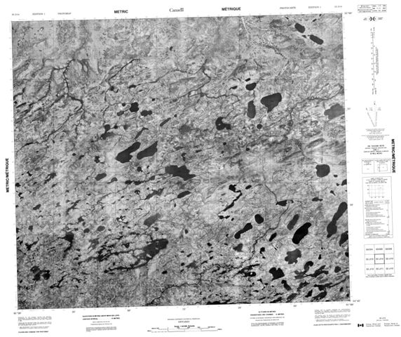 No Title Topographic Paper Map 053J14 at 1:50,000 scale
