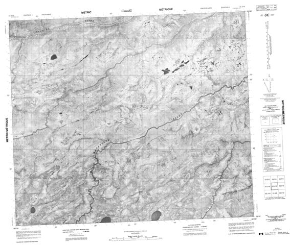 No Title Topographic Paper Map 053J16 at 1:50,000 scale