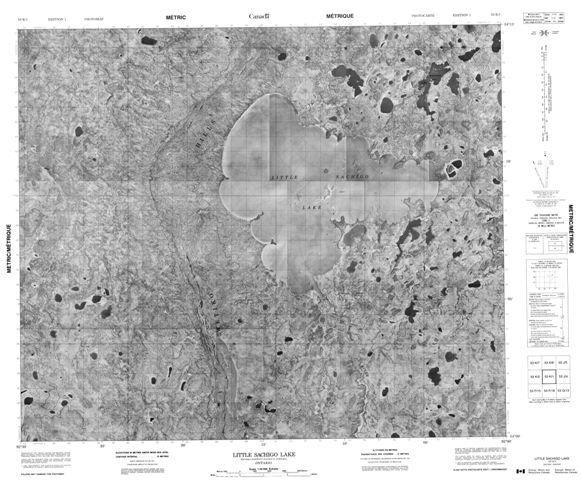 Little Sachigo Lake Topographic Paper Map 053K01 at 1:50,000 scale