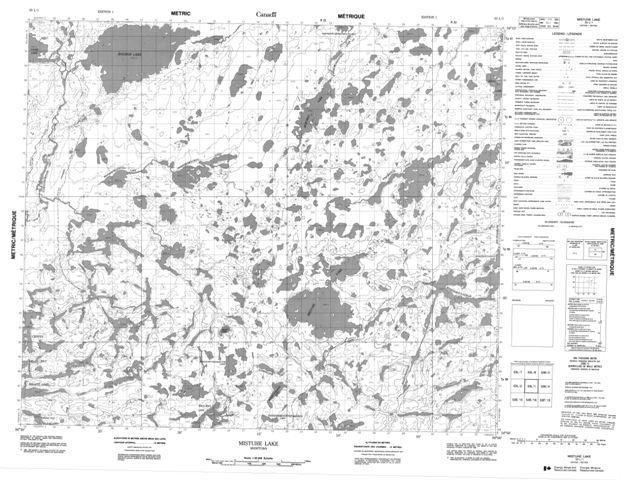 Mistuhe Lake Topographic map 053L01 at 1:50,000 Scale