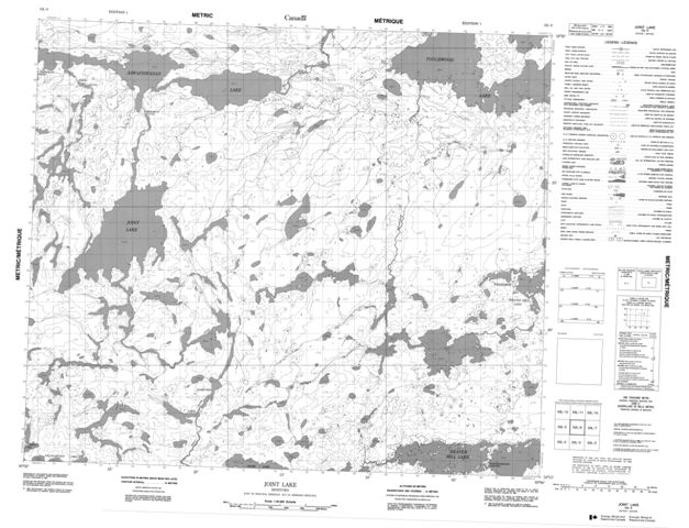 Joint Lake Topographic map 053L06 at 1:50,000 Scale