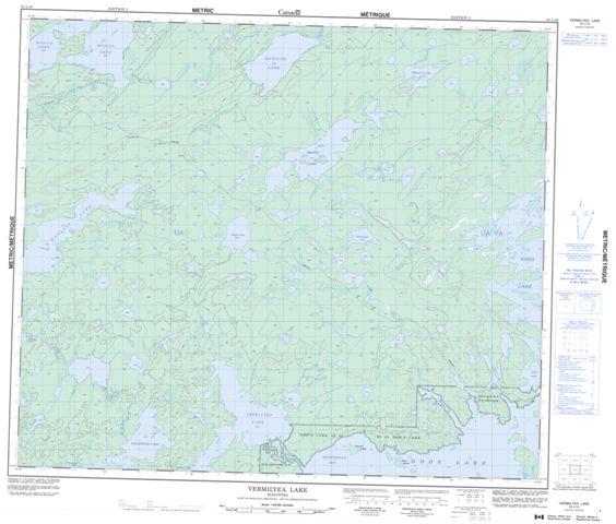 Vermilyea Lake Topographic Paper Map 053L10 at 1:50,000 scale