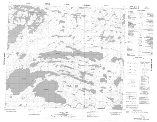 Munro Lake Topographic Paper Map 053L11 at 1:50,000 scale