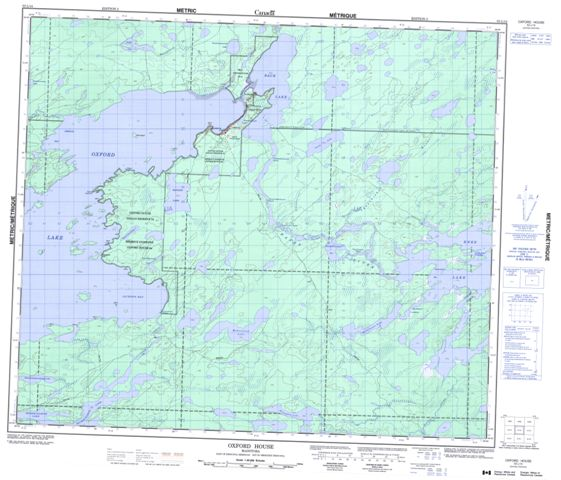 Oxford House Topographic Paper Map 053L14 at 1:50,000 scale