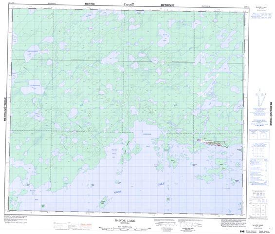 Mcivor Lake Topographic Paper Map 053L16 at 1:50,000 scale