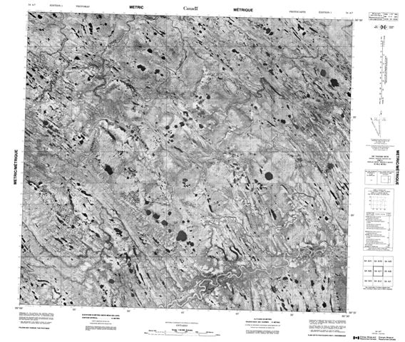No Title Topographic Paper Map 054A07 at 1:50,000 scale