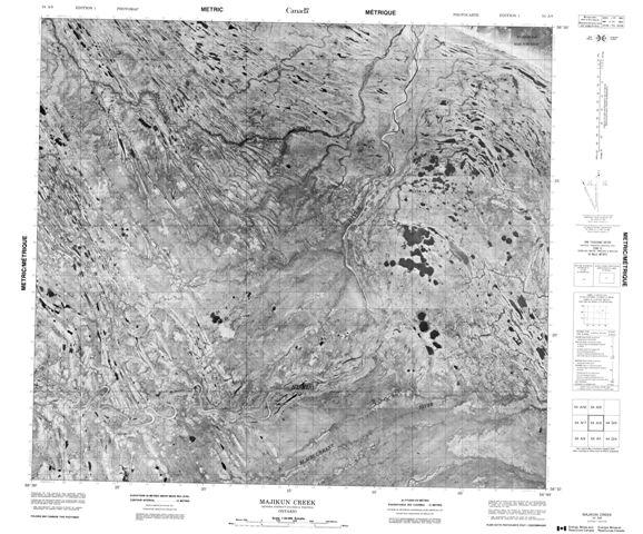Majikun Creek Topographic Paper Map 054A08 at 1:50,000 scale