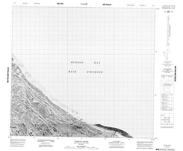 Tamuna River Topographic Paper Map 054A09 at 1:50,000 scale