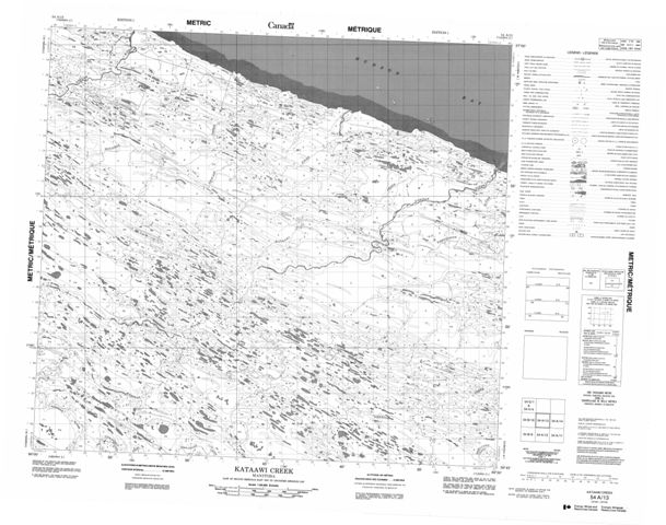 Kataawi Creek Topographic Paper Map 054A13 at 1:50,000 scale