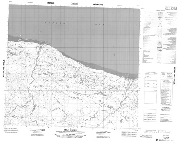 Milk Creek Topographic Paper Map 054A14 at 1:50,000 scale