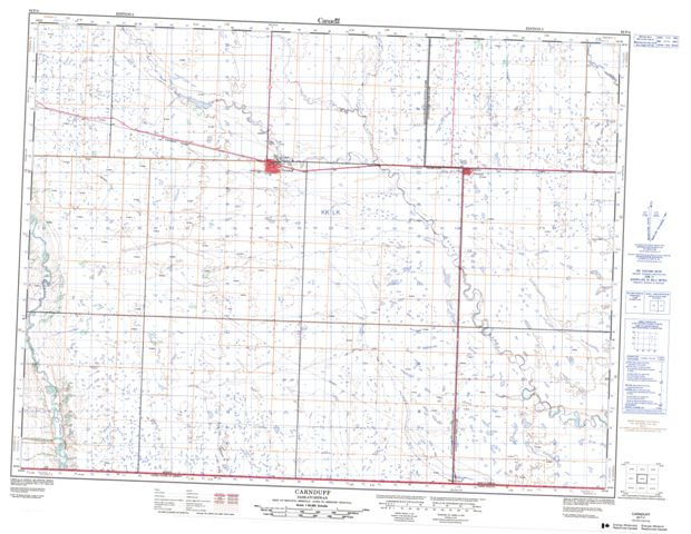 Carnduff Topographic Paper Map 062F04 at 1:50,000 scale
