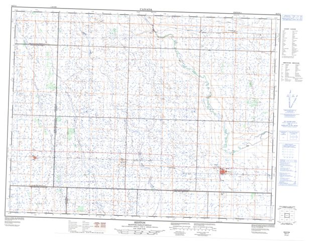 Reston Topographic Paper Map 062F11 at 1:50,000 scale