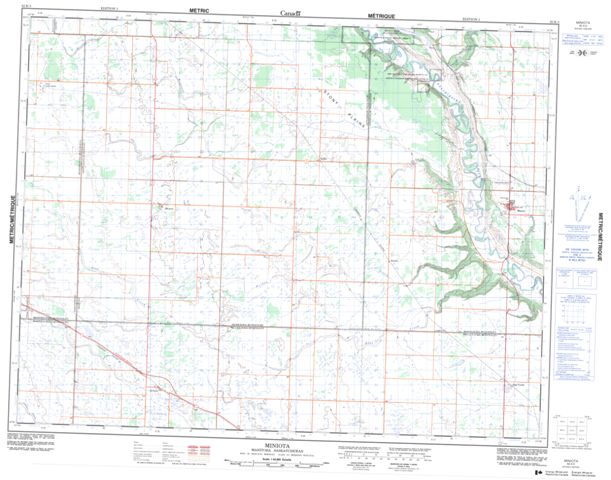 Miniota Topographic Paper Map 062K03 at 1:50,000 scale