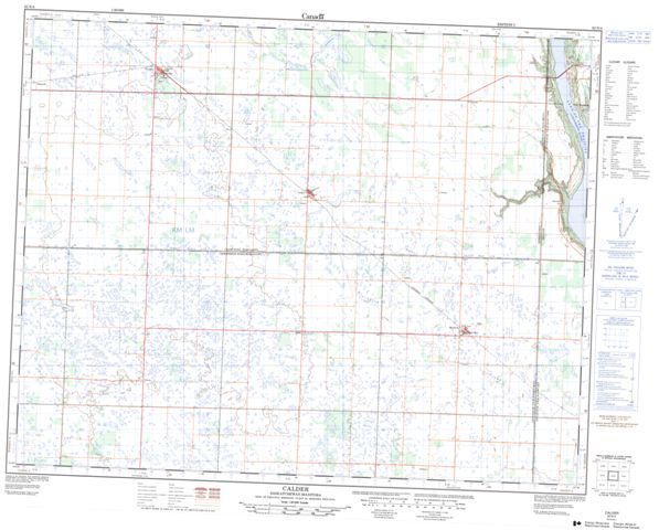 Calder Topographic Paper Map 062N04 at 1:50,000 scale