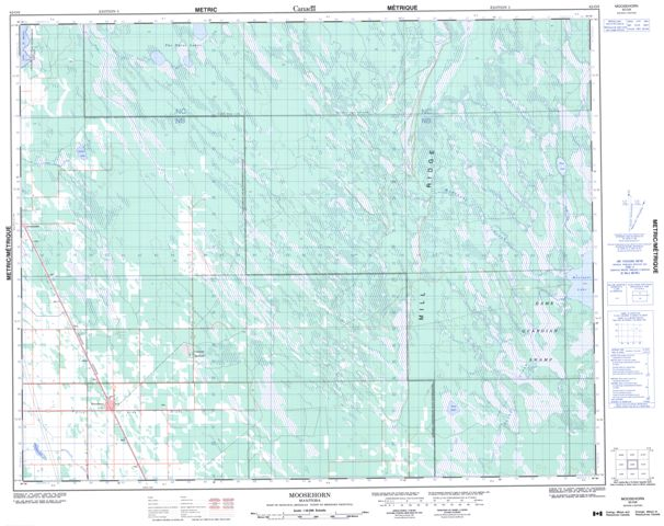 Moosehorn Topographic Paper Map 062O08 at 1:50,000 scale