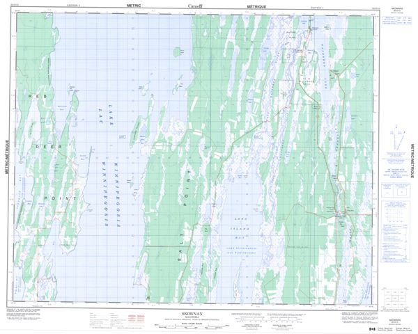 Skownan Topographic Paper Map 062O13 at 1:50,000 scale