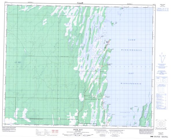 Duck Bay Topographic Paper Map 063C01 at 1:50,000 scale