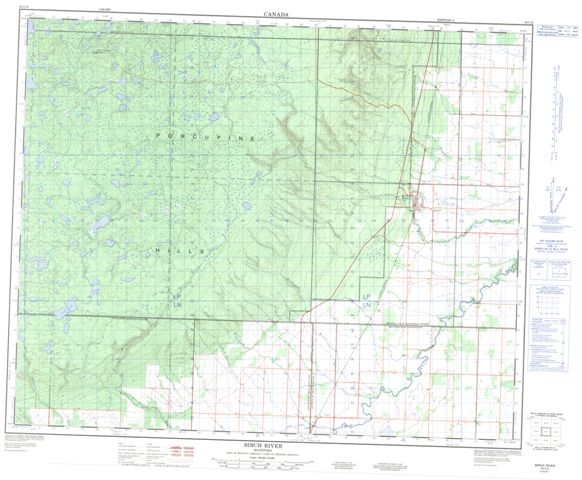 Birch River Topographic Paper Map 063C06 at 1:50,000 scale