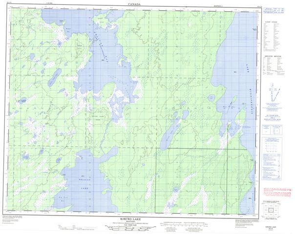 Kircro Lake Topographic Paper Map 063C09 at 1:50,000 scale