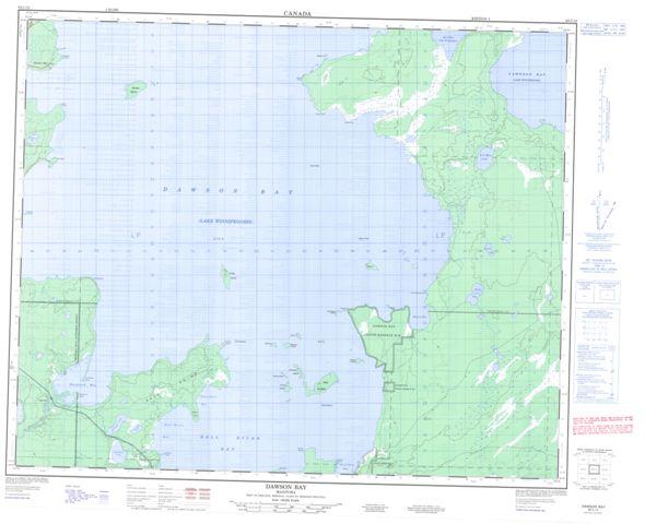 Dawson Bay Topographic Paper Map 063C15 at 1:50,000 scale