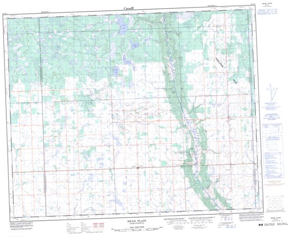 Swan Plain Topographic Paper Map 063D01 at 1:50,000 scale