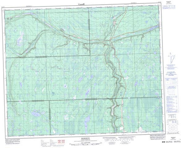 Reserve Topographic Paper Map 063D07 at 1:50,000 scale