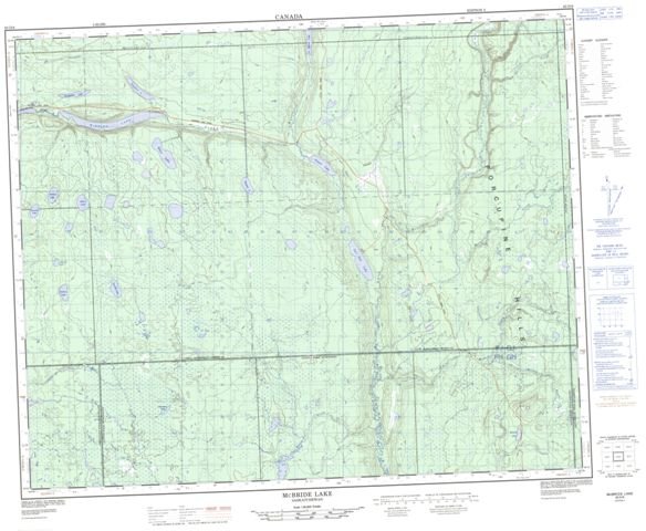 Mcbride Lake Topographic Paper Map 063D08 at 1:50,000 scale