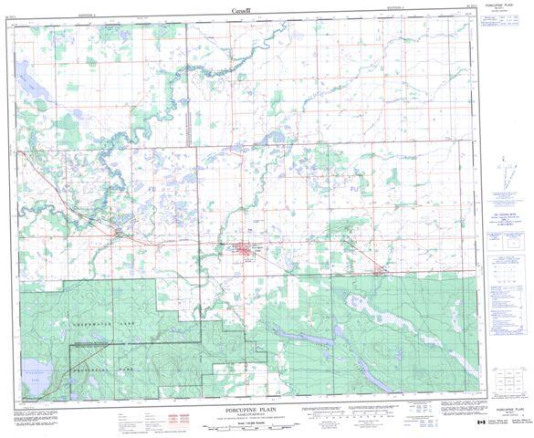 Porcupine Plain Topographic Paper Map 063D11 at 1:50,000 scale