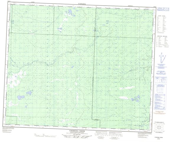 Chemong Creek Topographic Paper Map 063F04 at 1:50,000 scale