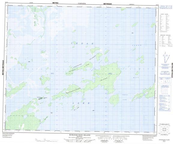Kokookuhoo Island Topographic Paper Map 063F08 at 1:50,000 scale