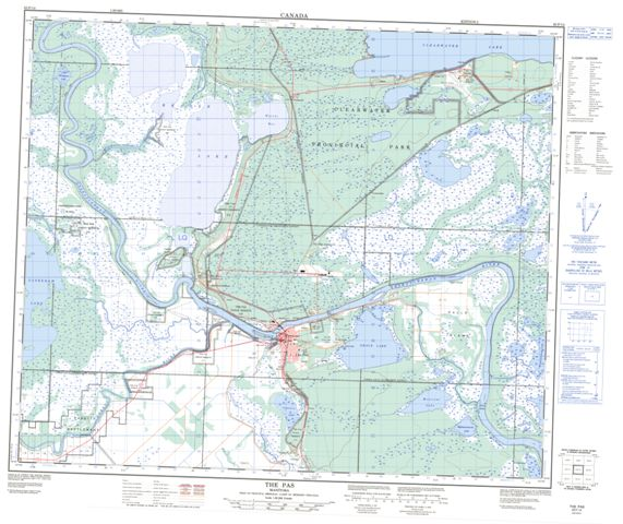 The Pas Topographic Paper Map 063F14 at 1:50,000 scale