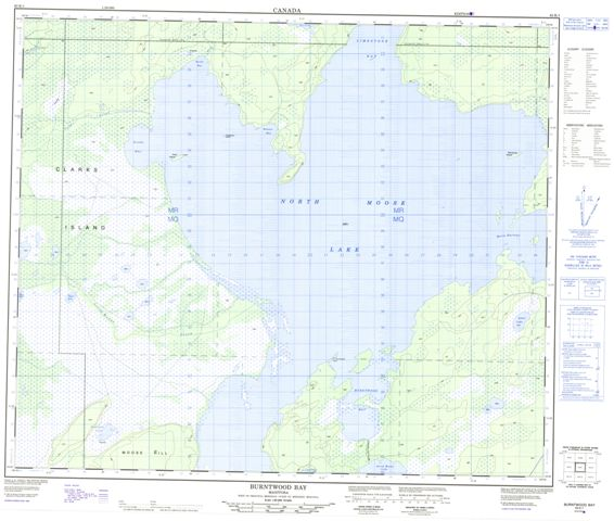 Burntwood Bay Topographic Paper Map 063K01 at 1:50,000 scale