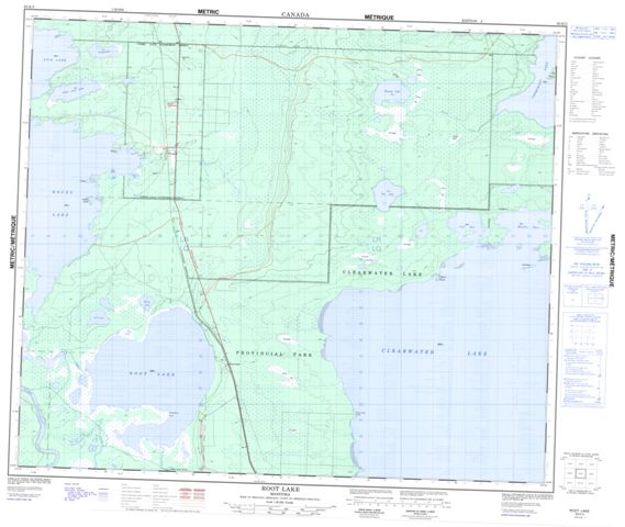 Root Lake Topographic Paper Map 063K03 at 1:50,000 scale