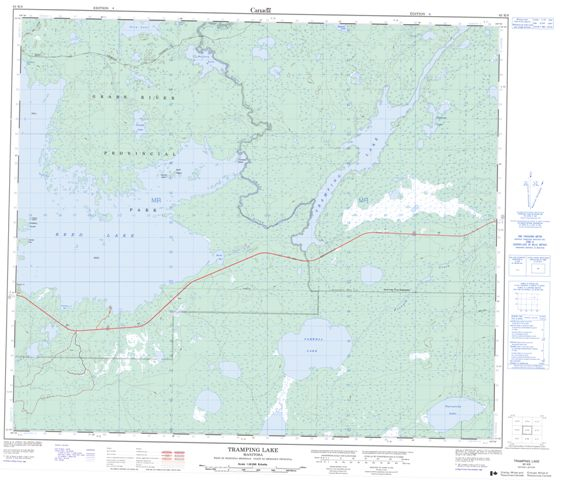 Tramping Lake Topographic Paper Map 063K09 at 1:50,000 scale