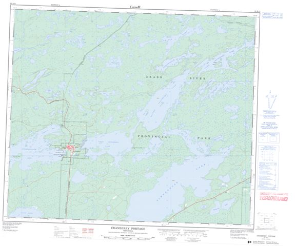 Cranberry Portage Topographic Paper Map 063K11 at 1:50,000 scale