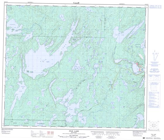File Lake Topographic Paper Map 063K16 at 1:50,000 scale