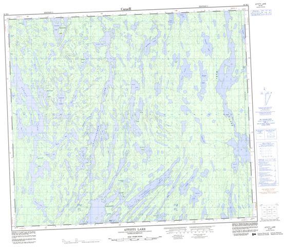 Attitti Lake Topographic Paper Map 063M01 at 1:50,000 scale