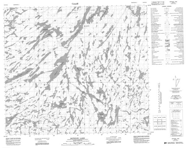 Rothnie  Lake Topographic Paper Map 063M13 at 1:50,000 scale