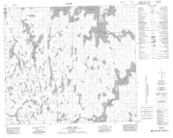 Laird Lake Topographic Paper Map 063M14 at 1:50,000 scale