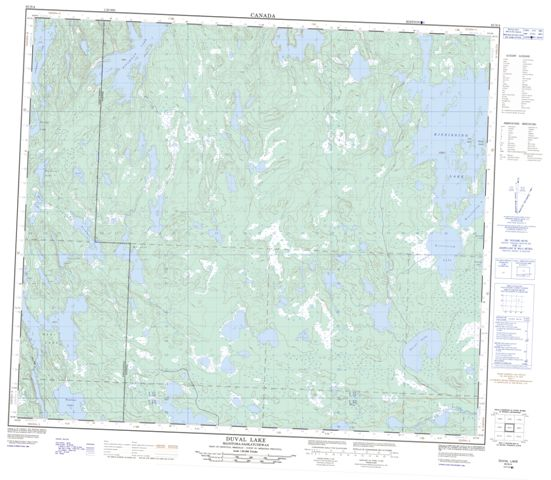 Duval Lake Topographic Paper Map 063N04 at 1:50,000 scale