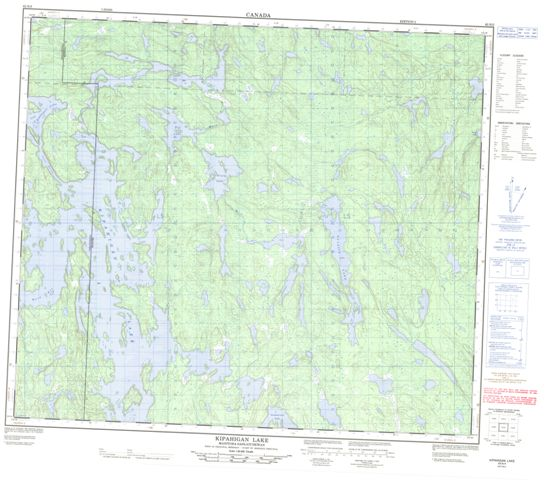 Kipahigan Lake Topographic Paper Map 063N05 at 1:50,000 scale
