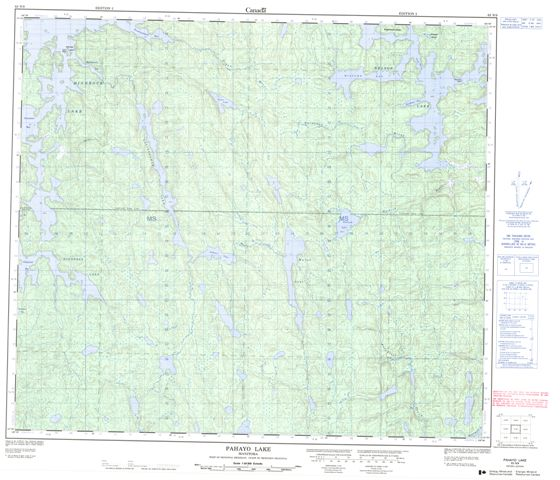 Pahayo Lake Topographic Paper Map 063N09 at 1:50,000 scale