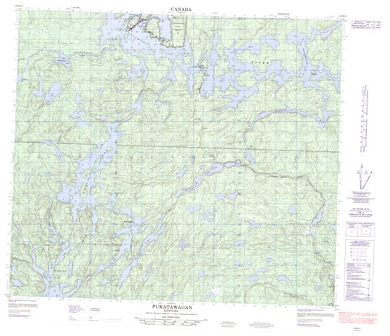 Pukatawagan Topographic Paper Map 063N11 at 1:50,000 scale